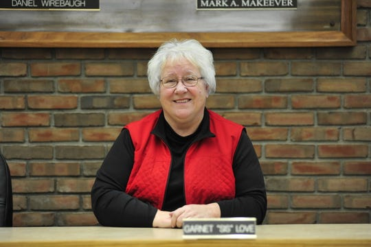 "Garnet ""Sis"" Love has served as a member of Bucyrus City Council since Jan. 1, 2004."