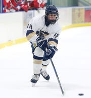 Essex boys hockey player Charles Wiegand.