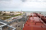 Moda Ingleside Energy Center has done upgrades to enable loading of more crude oil to ships. It is located at the former Naval Station Ingleside.