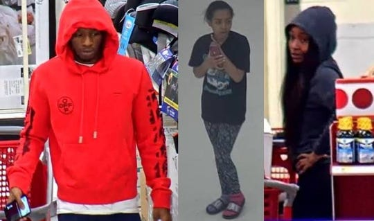 These three people are considered persons of interest in a car burglary at a fitness center in Delran on Jan. 8. Credit cards were stolen from the victim's car as he worked out.