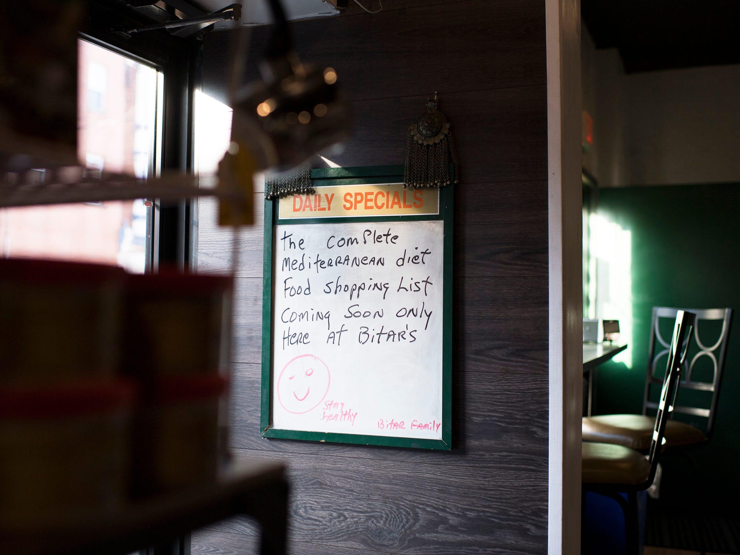 Inside Bitar's in Philadelphia.