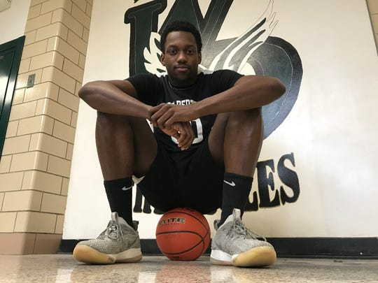 West Deptford senior Elijah Malloy didn't play basketball his junior season because of poor grades, which were partly caused by the death of his cousin. Malloy returned to the team this year and the Eagles are having their best season in a decade.