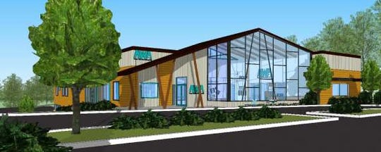 An artist rendering offers a preview of the Animal Welfare Association's modern 15,000-square-foot adoption center, set to open in late 2020 at the site of the current center in Voorhees. A private donation of $250,000 from a couple who adopted their dog at AWA has helped the shelter reach the halfway point in the project's capital campaign.