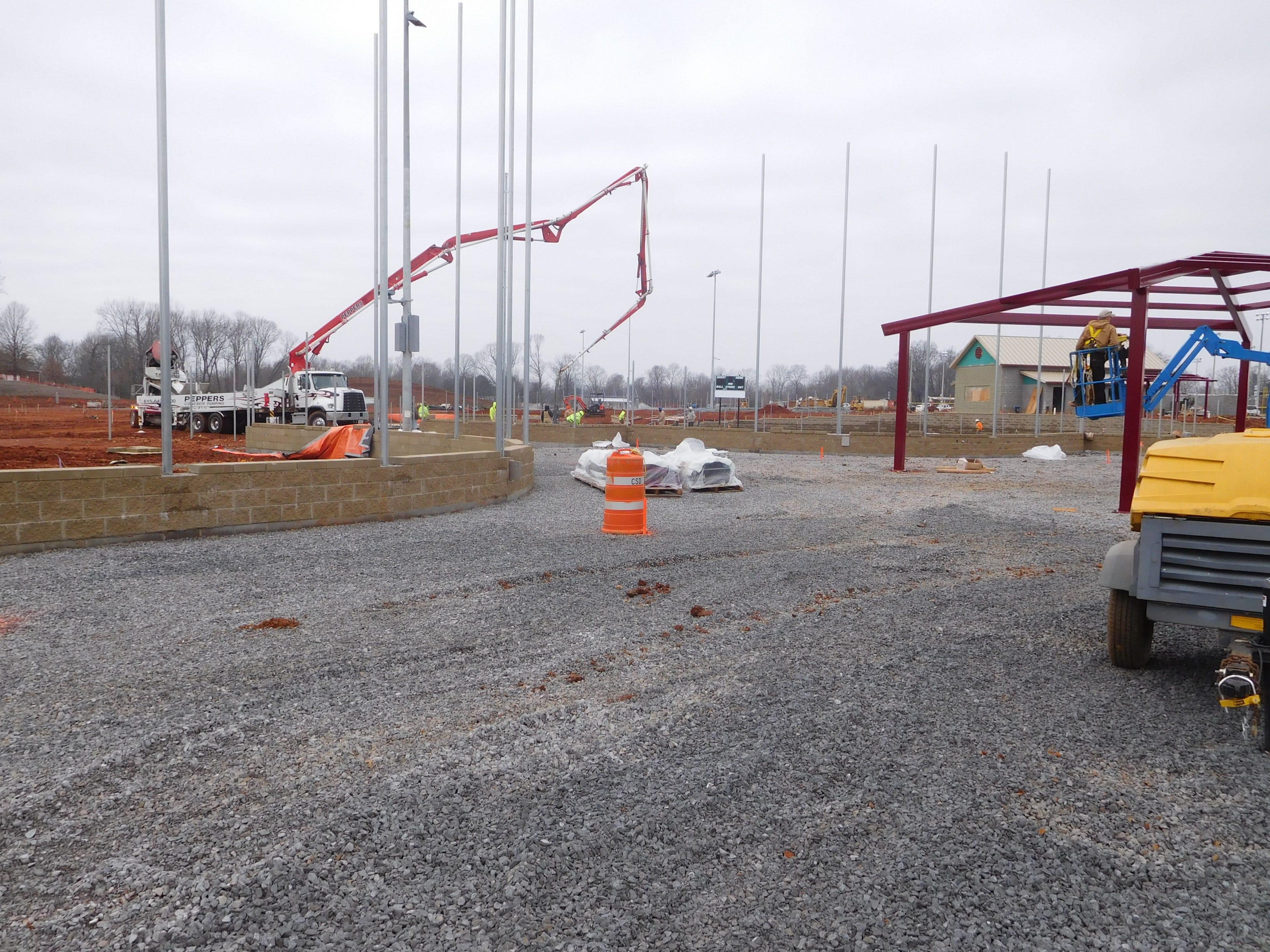 Construction progress continues at Civitan Park