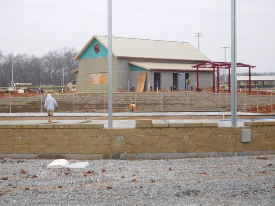 Construction progress continues at Civitan Park.