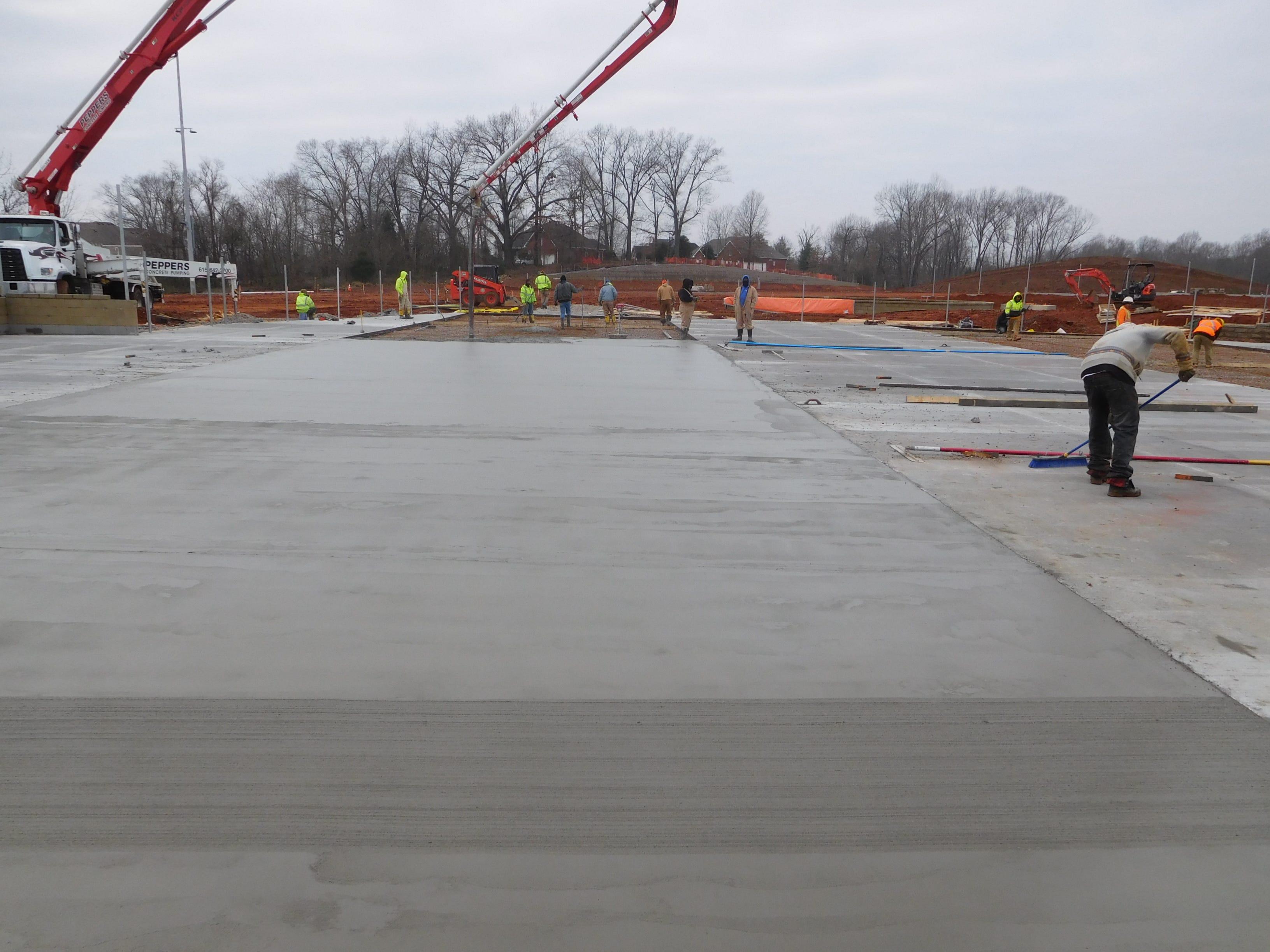 Construction progress at Civitan Park