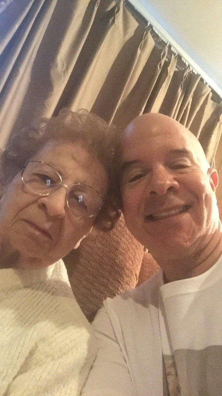 Larry Abramsky and his mother Ruth.