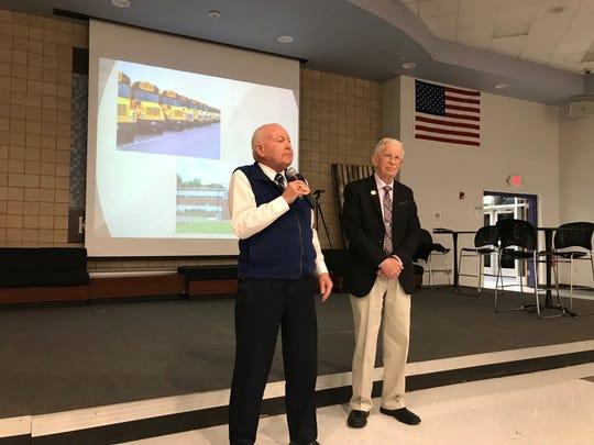 Sen. Sam Thompson and Assemblymen Ronald Dancer attended Thursday's Superintendent's Forum at Old Bridge High School.
