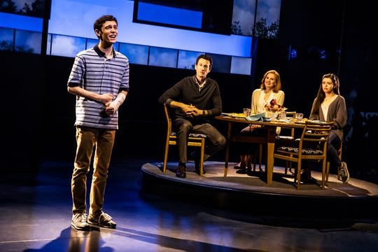 "Ben Levi Ross, left, stars as Evan in the first American tour of ""Dear Evan Hansen"""