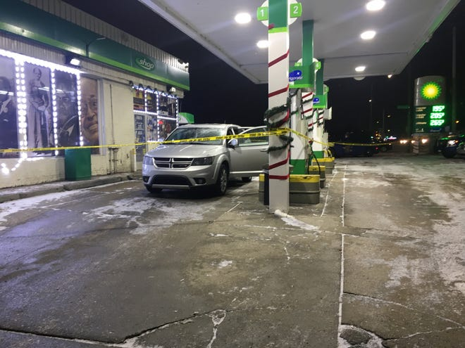 A 3-year-old boy is in critical condition after he was shot on Jan. 24, 2019 while riding in the back seat of a Dodge Journey on the Southfield Freeway in Detroit. His mother pulled into a gas station and called for help.