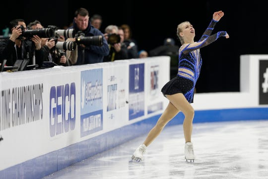 Bradie Tennell performs during the ladies short program Thursday.