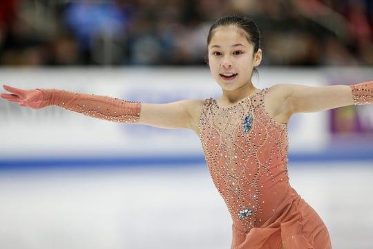 Alysa Liu performs Thursday.