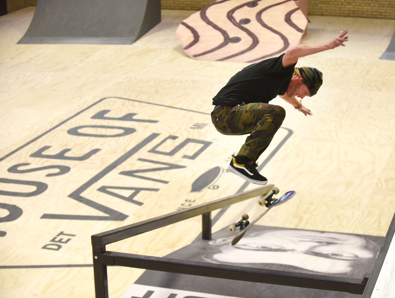 Brandon White of Detroit runs a custom indoor skate park.