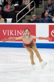 Thirteen-year-old Alysa Liu competes in the ladies short program.