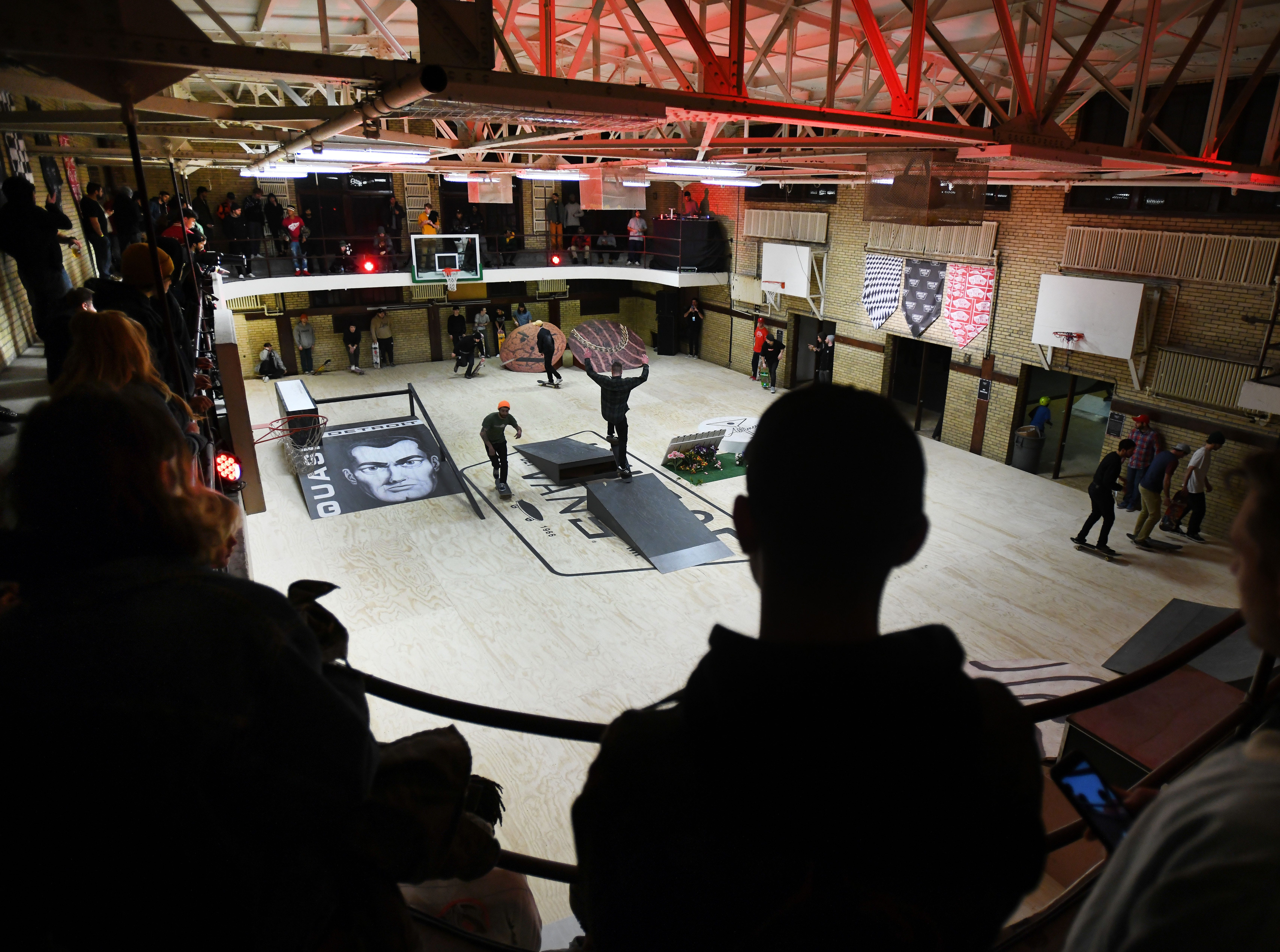 A skate park at the House of Vans pop-up at Jefferson school.