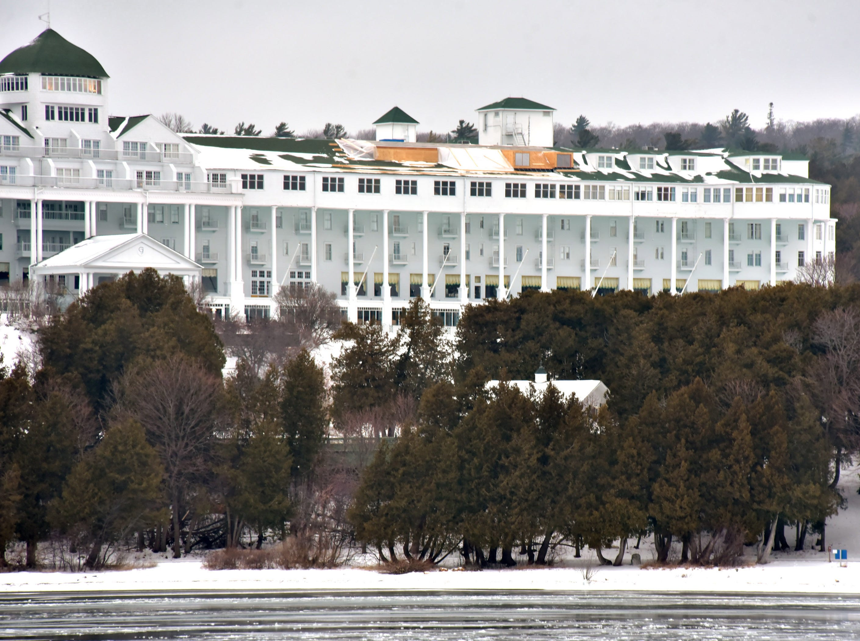 Mackinac Island's iconic Grand Hotel is in the final stage of building Cupola Suites — adding bedrooms and parlors on the fourth floor roof. The project began in 2014 and will add three bedrooms and three parlors.