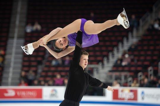 Audrey Liu and Misha Mitrofanov compete in the senior pairs short program. O'Shea was born in Pontiac.