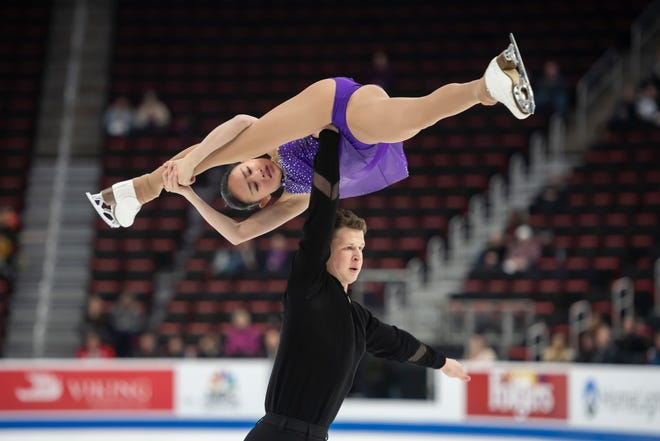 Audrey Liu and Misha Mitrofanov compete in the senior pairs short program. O'Shea was born in Pontiac.