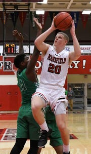 Tyler Moffe is the leading scorer for the Mansfield University men's basketball team as a junior.
