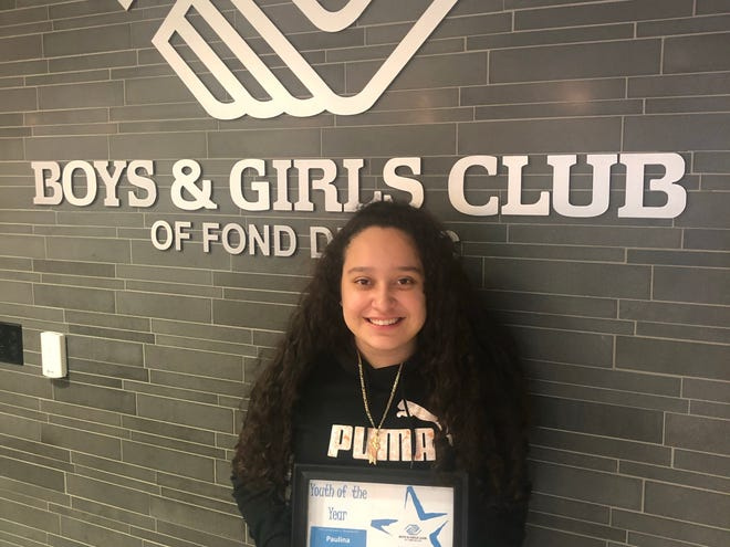 Paulina Lopez was named Youth of the Year at the Boys and Girls Club of Fond du Lac.