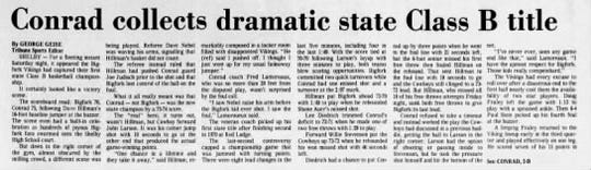 Conrad won the 1983 State B championship over Bigfork. And it was a bit controversial.