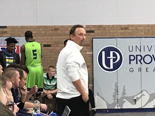 University of Providence men's basketball coach Steve Keller returned to the sidelines after suffering a heart attack last week.