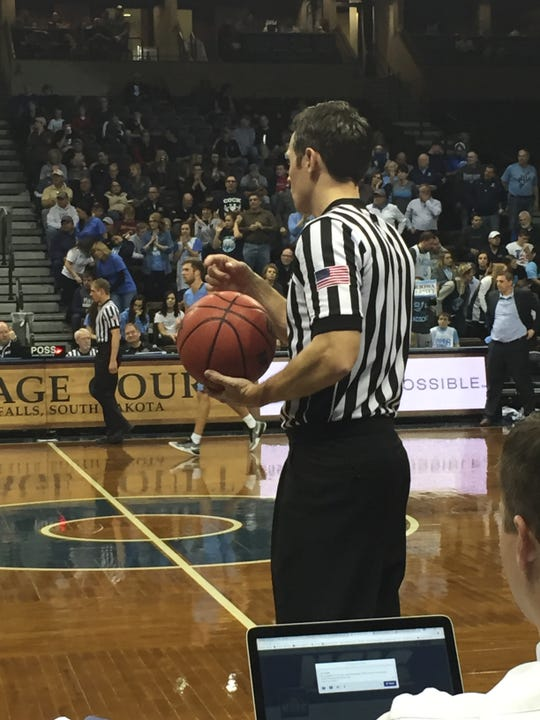 Former Conrad and Montana State-Northern basketball star Rhett Lamoreaux is now an NCAA Division I referee living in Minneapolis.