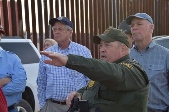 Rep. Greg Gianforte, right, recently visited the Arizona and went to the U.S.-Mexico border.