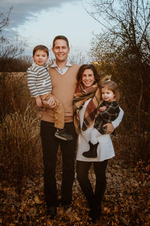 The family of Rhett and Alyssa Lamoreaux includes son Tyson and daughter Aubrielle.