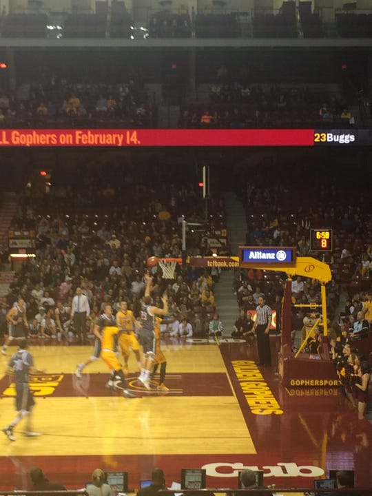 "One of the highlights of Rhett Lamoreaux's officiating career to date was a game at the University of Minnesota's Williams Arena, known as ""The Barn."""