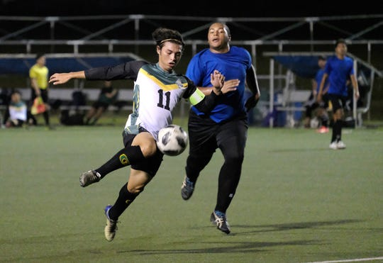 The University of Guam routed Guam Shipyard 13-0 in the GFA Amateur Men's League Jan. 24 at the Guam Football Association's National Training Center.