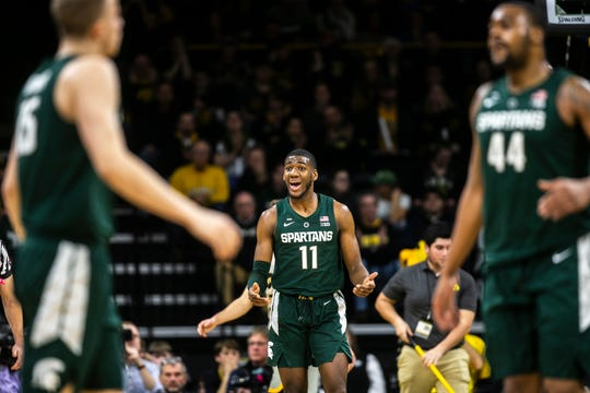 MSU freshman Aaron Henry scored six points and grabbed four rebounds in the Spartans' 82-67 win at Iowa.