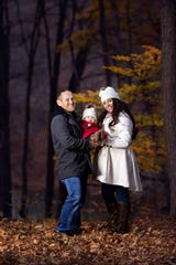 Shauna Boatright and her husband, Josey, with their 11-month-old daughter Brielle.