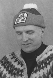 Mayor William Hudnut in his Indianapolis Racers hat was a common sight during the blizzard of 1978.