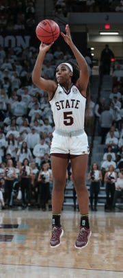 Mississippi State's Anriel Howard had 19 points in the first quarter of Thursday's game against the Florida Gators. Photo by Keith Warren