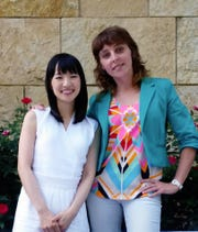 Monika Miller, right, with Bower & Bird is Tennessee's first and, at this time, only KonMari certified home organization consultant. She is pictured with Marie Kondo.