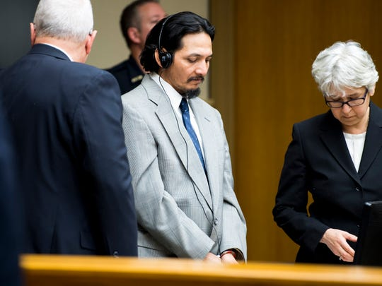 Francisco Eduardo Franco-Cambrany enters the courtroom for his hearing in Knox County Fourth Sessions Court on Friday, January 25, 2019.