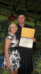 Blaine Newby graduated from McNeese State University in 2011. He transferred as a sophomore from the University of Louisiana at Monroe. He stands with wife Lindsey Newby.