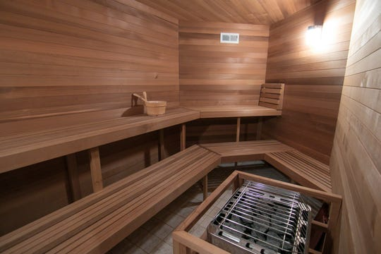 The Cross Creek home, shown Thursday, Jan. 17, 2019, features a large sauna.