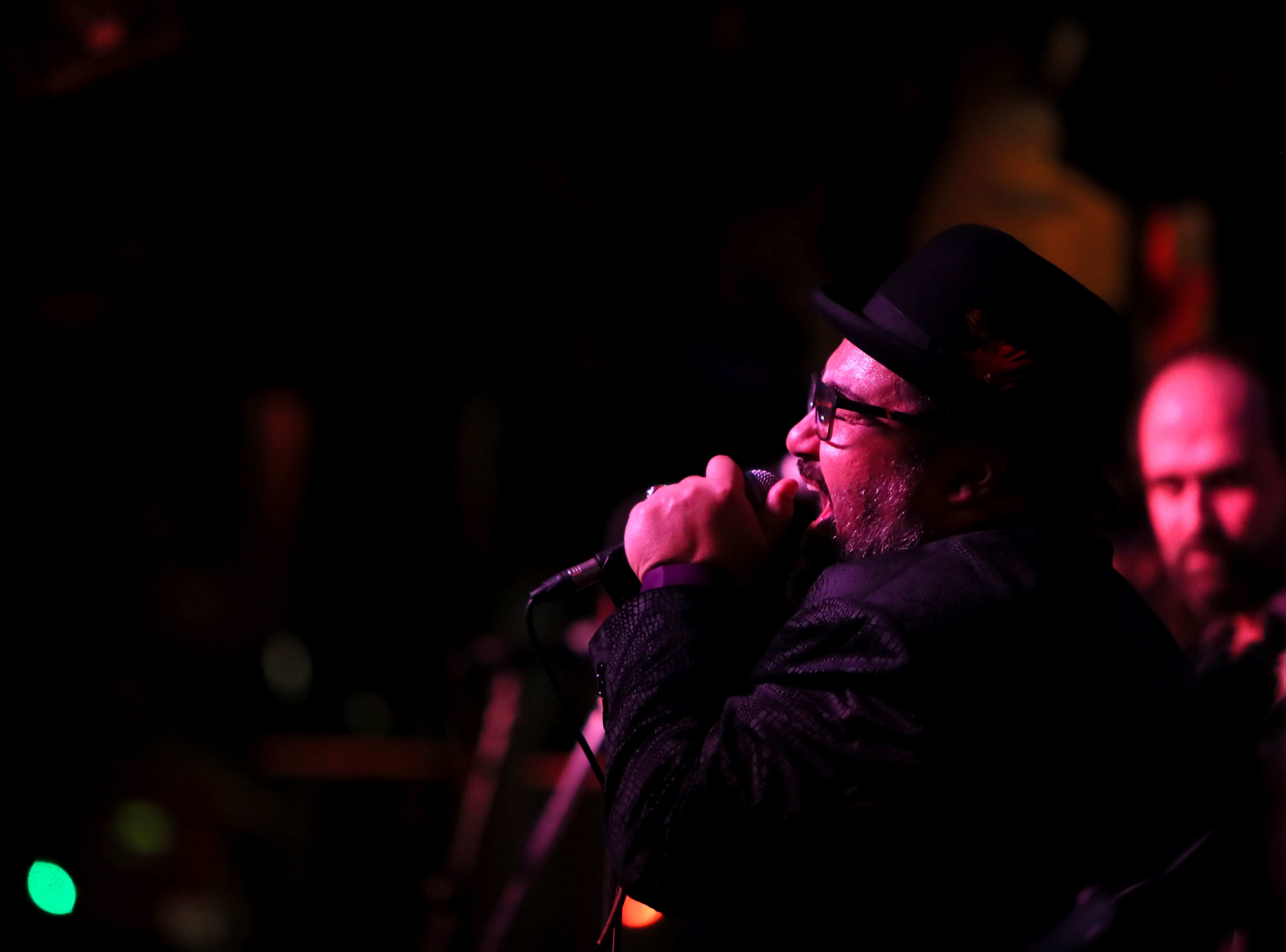 Celso Salim Band plays at Rum Boogie during the 35th International Blues Challenge on Beale Street Thursday, Jan. 24, 2019.
