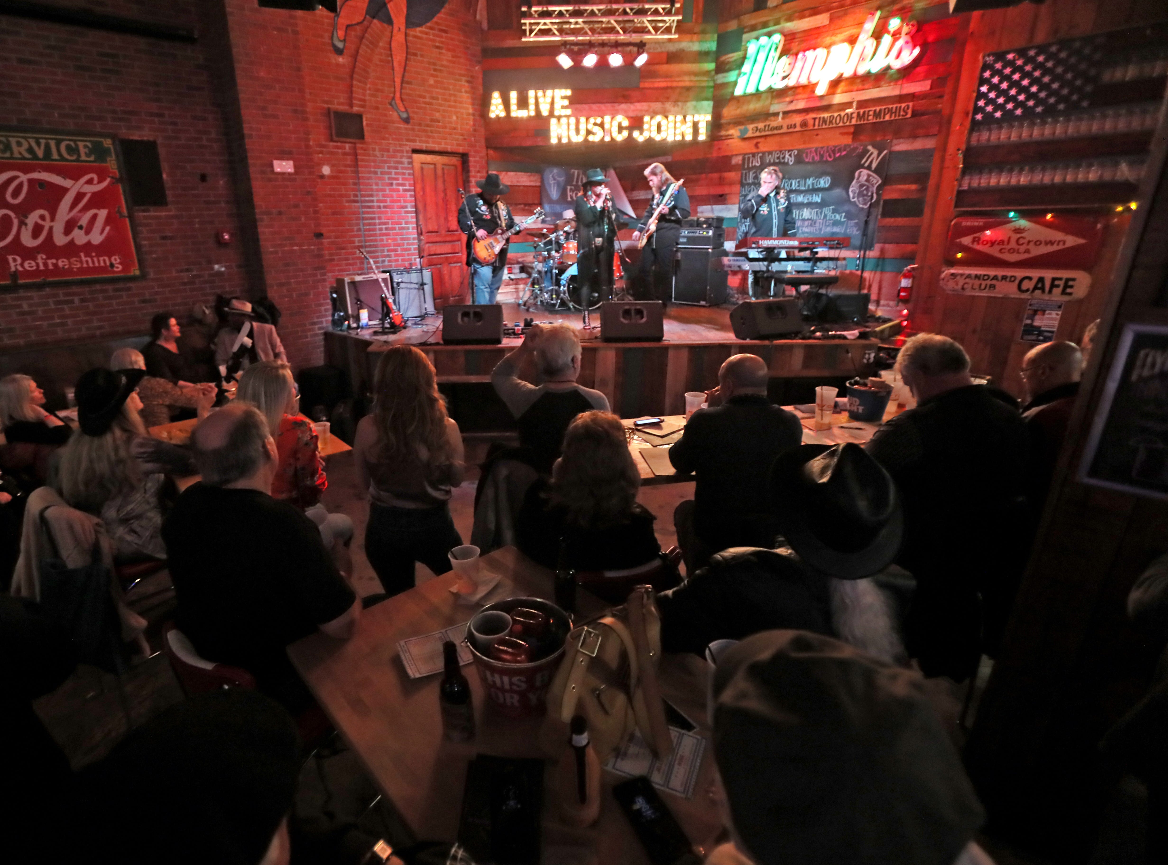 Boogie Town plays at Tin Roof during the 35th International Blues Challenge on Beale Street Thursday, Jan. 24, 2019.