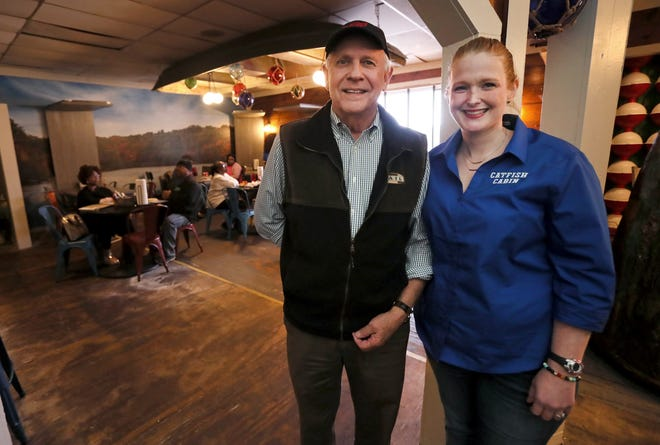 Charles Ezell and his daughter Rachael, owners of Catfish Cabin, which recently appeared on an episode of Gordon Ramsay's 24 Hours to Hell and Back television show.