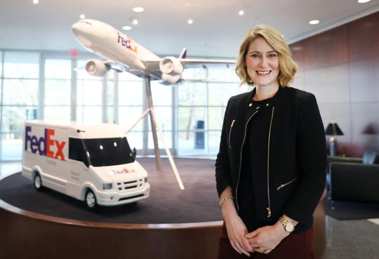 Brie Carere, at the FedEx Express World Headquarters Friday, Jan. 25 where she serves the executive vice president and chief marketing and communications officer.