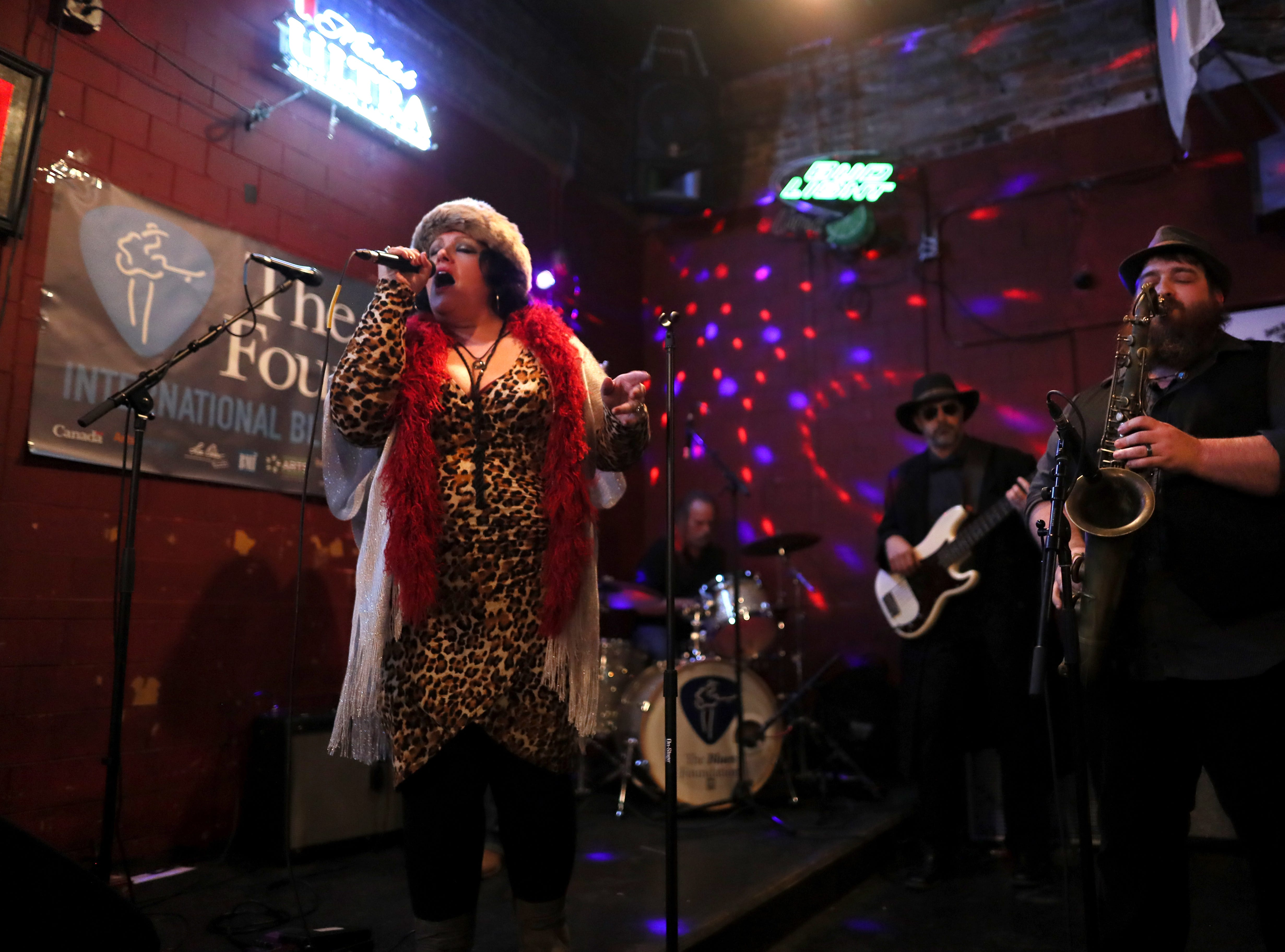 Charlotte Taylor & Gypsy Rain plays at Coyote Ugly during the 35th International Blues Challenge on Beale Street Thursday, Jan. 24, 2019.