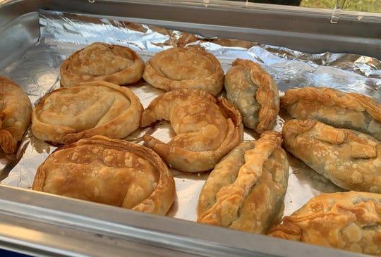 Assorted baked empanadas from Cordobesita, Argentinean Food Truck.