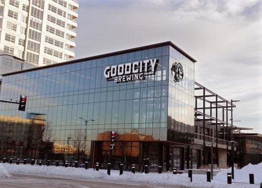 Good City Brewing's downtown location, across from Fiserv Forum, is among the stops on a free Black Friday bus loop.