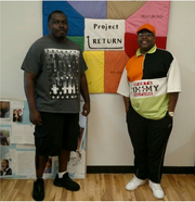 Bryan Winters, left and Eugene Nelson  work at Project Return, where they help ex-prisoners transition into society.