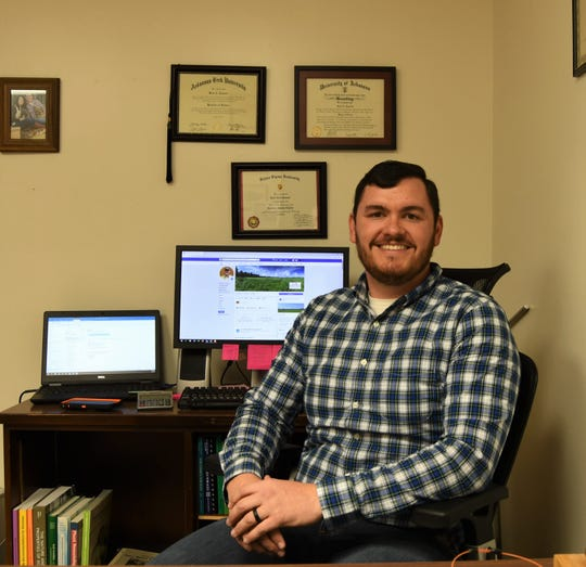 Brad Runsick, Baxter County's new Cooperative Extension Service agent, maintains a Facebook page for the Baxter County Cooperative Extension Service.