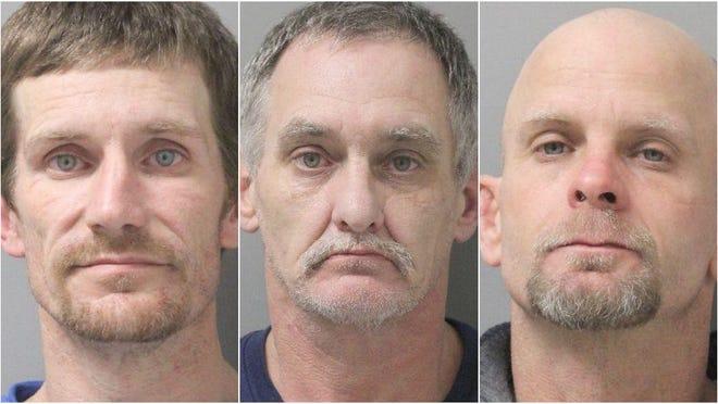 Scott Parker, 44; Mickey Johnston, 52; and Shelby Parker, 40