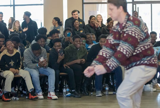 University of Louisiana at Monroe invited Monroe area 8th grade boys to visit the campus for a tour and to hear from guest speakers on Jan. 25 in Monroe, La. The event, B.R.O.S. 4 Life, was hosted to have the young men think about their futures as they prepare for high school.